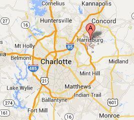 Map of Harrisburg, NC - 28075